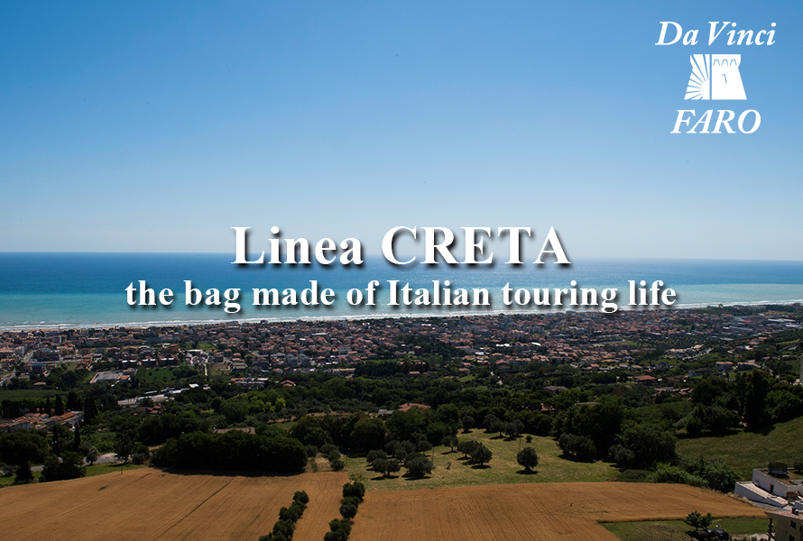 Linea CRETA -the bag made of Italian touring life-